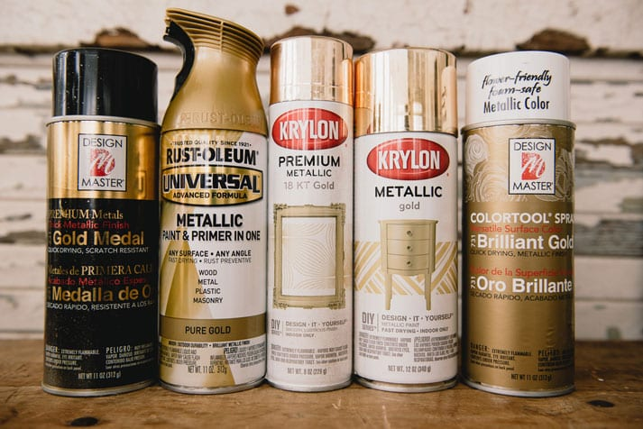 Gold Spray Paints